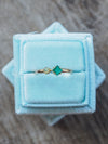 North Carolina Emerald and Opal Ring in Gold