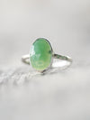 Chrysoprase and Tsavorite Garnet Ring - Gardens of the Sun Jewelry