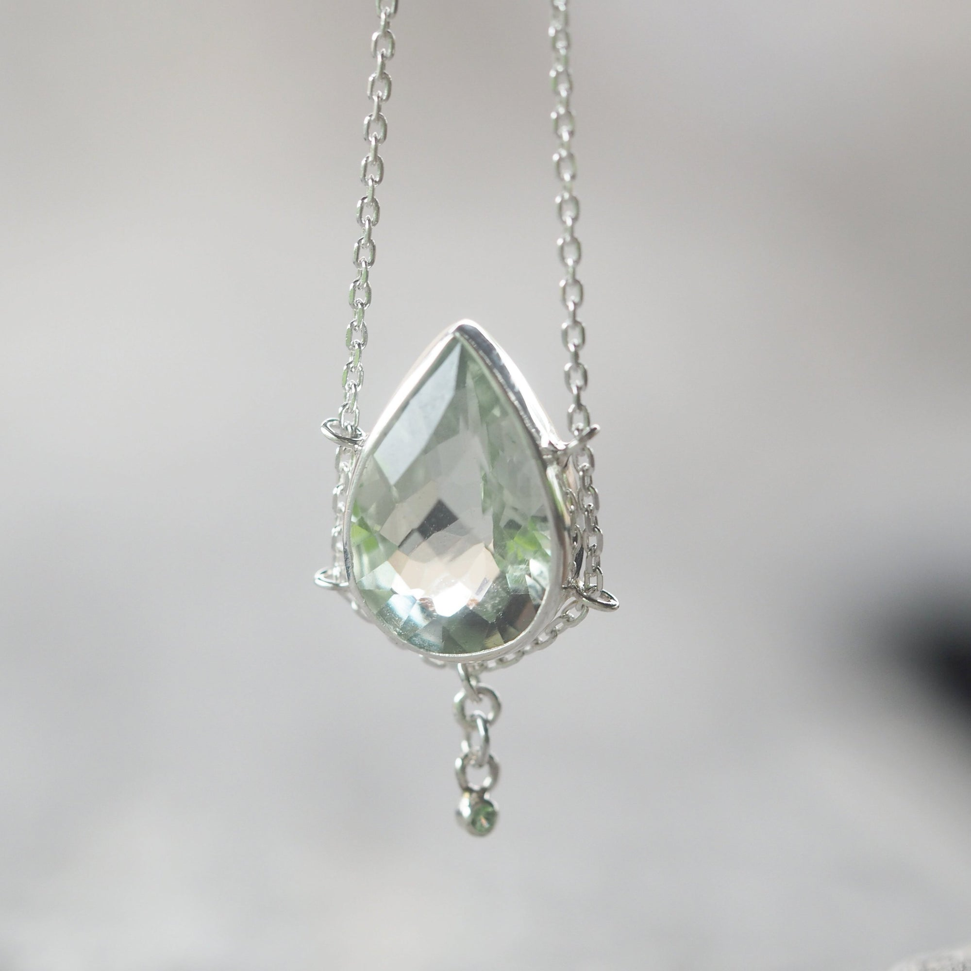 Green Amethyst and Tsavorite Garnet Necklace - Gardens of the Sun Jewelry