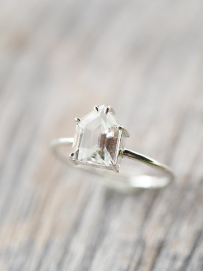 White Topaz Ring