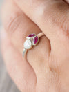 Opal and Marquise Ruby Ring - Gardens of the Sun Jewelry