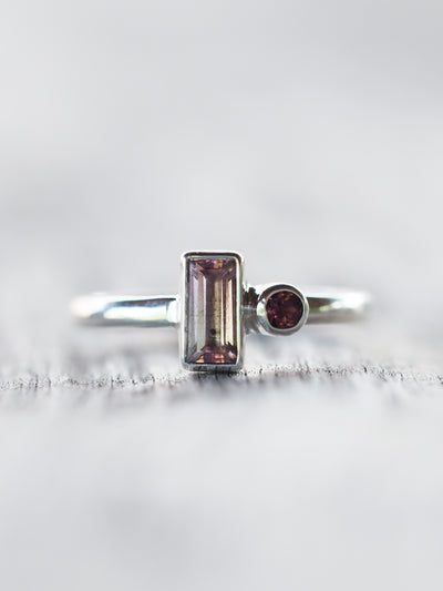 Double Pink Tourmaline Ring - Gardens of the Sun Jewelry