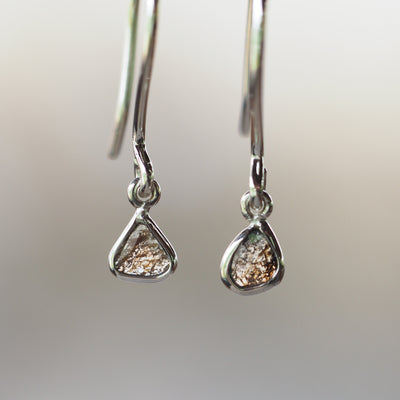 Diamond Slice Earrings - Gardens of the Sun Jewelry