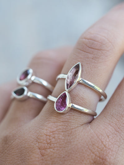 Pink Tourmaline Ring - Gardens of the Sun Jewelry