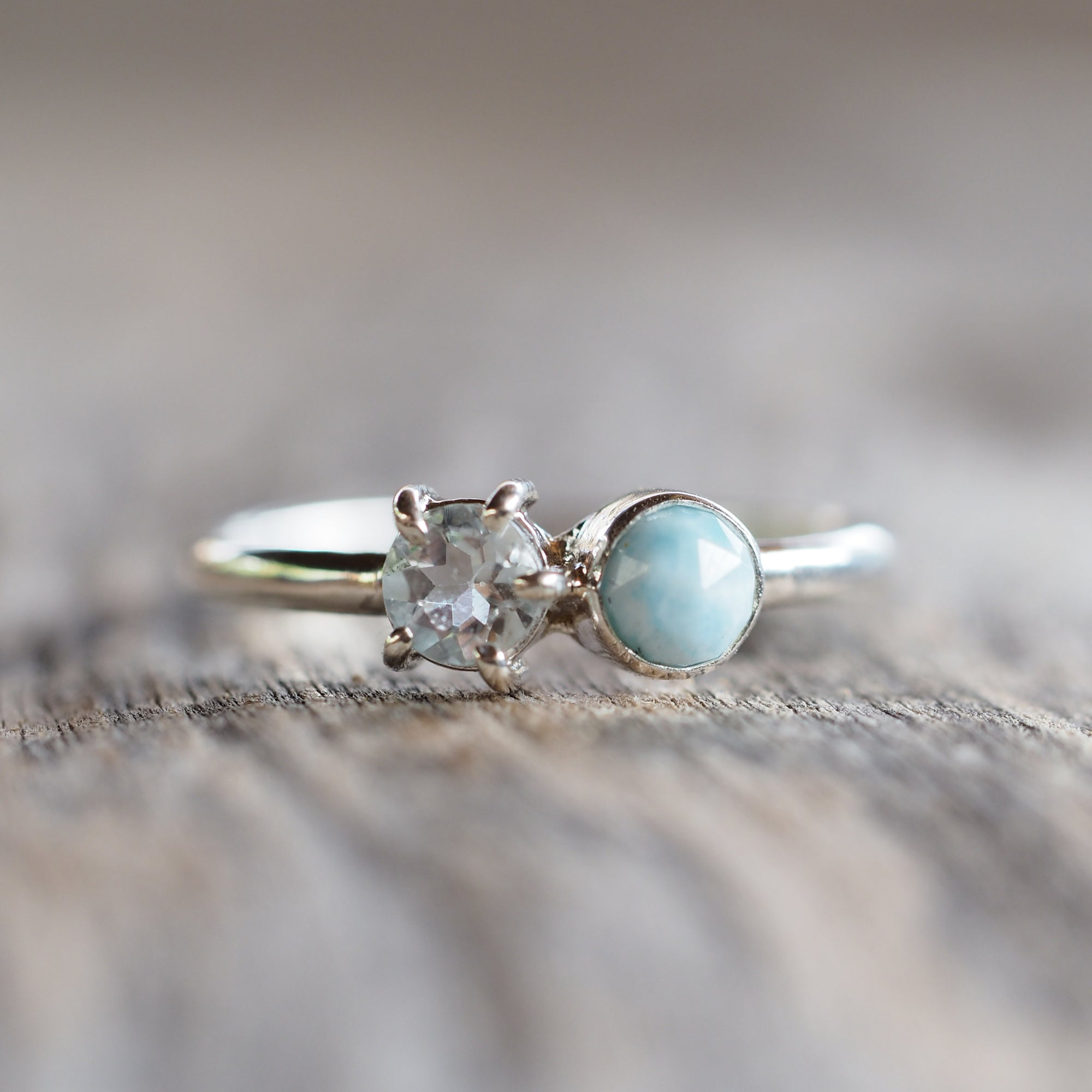 Larimar and Aquamarine Ring