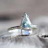 Aquamarine and Rainbow Moonstone Ring - Gardens of the Sun Jewelry
