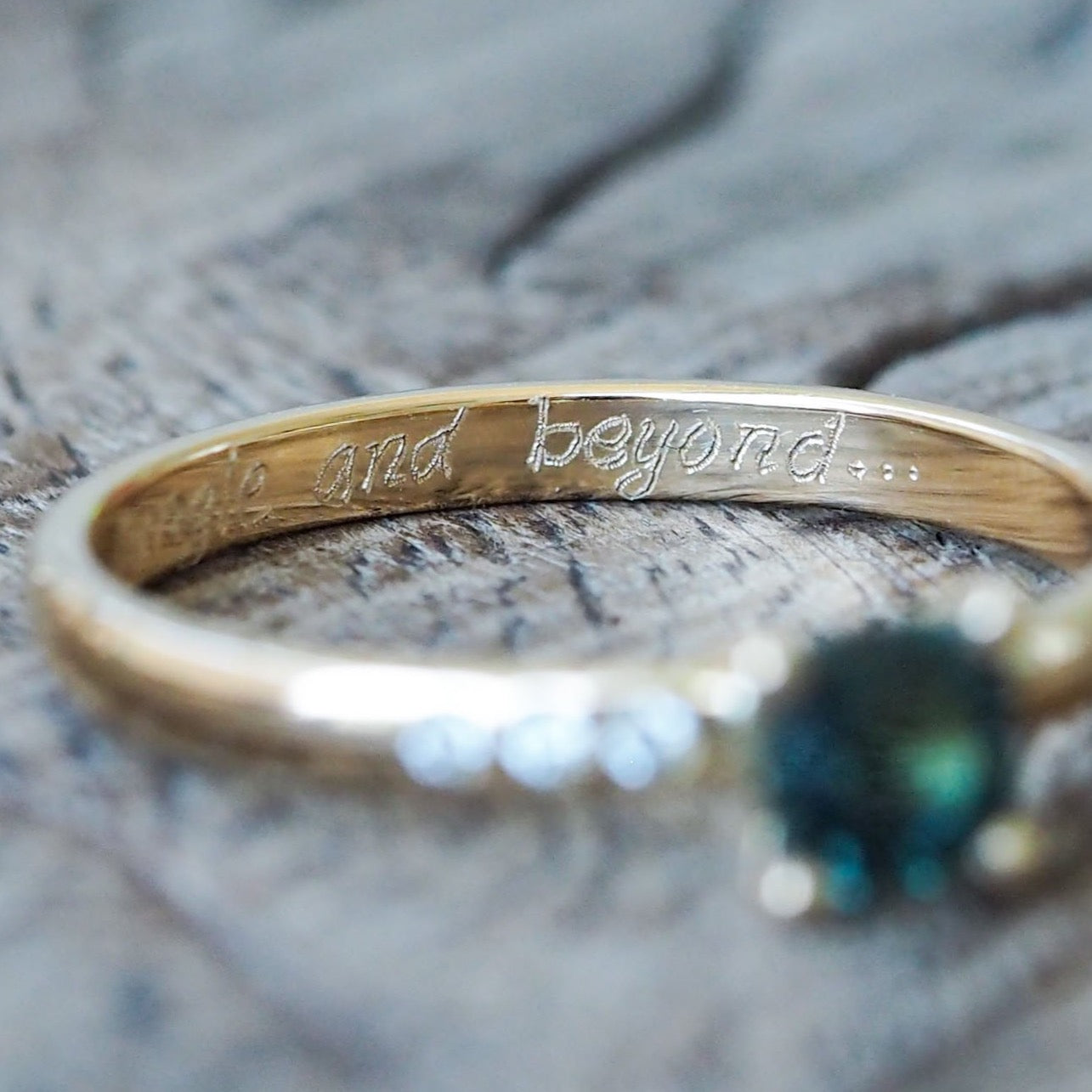 Ring Engraving - Handwritten Inscription