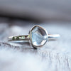 Aquamarine and Color Change Garnet Ring - Gardens of the Sun Jewelry