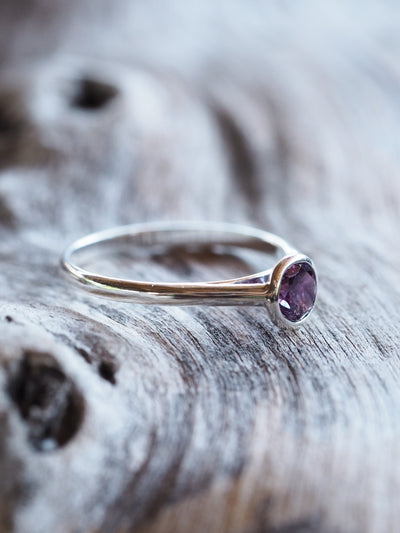 Cherry Sapphire Ring - Gardens of the Sun Jewelry