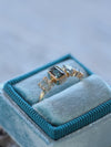 Montana Sapphire Cluster Ring in Yellow Gold - Gardens of the Sun Jewelry