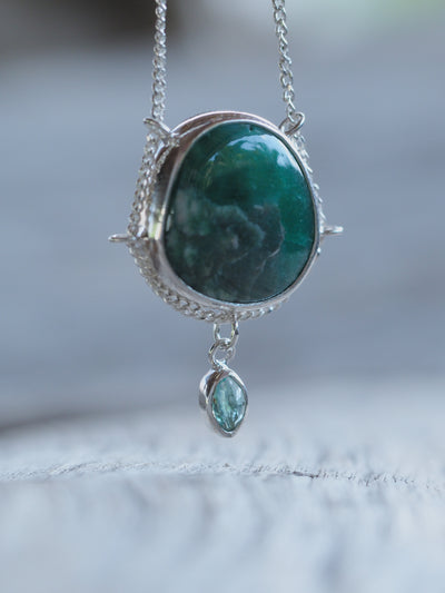 Sierra Nevada Turquoise and Emerald Necklace - Gardens of the Sun Jewelry