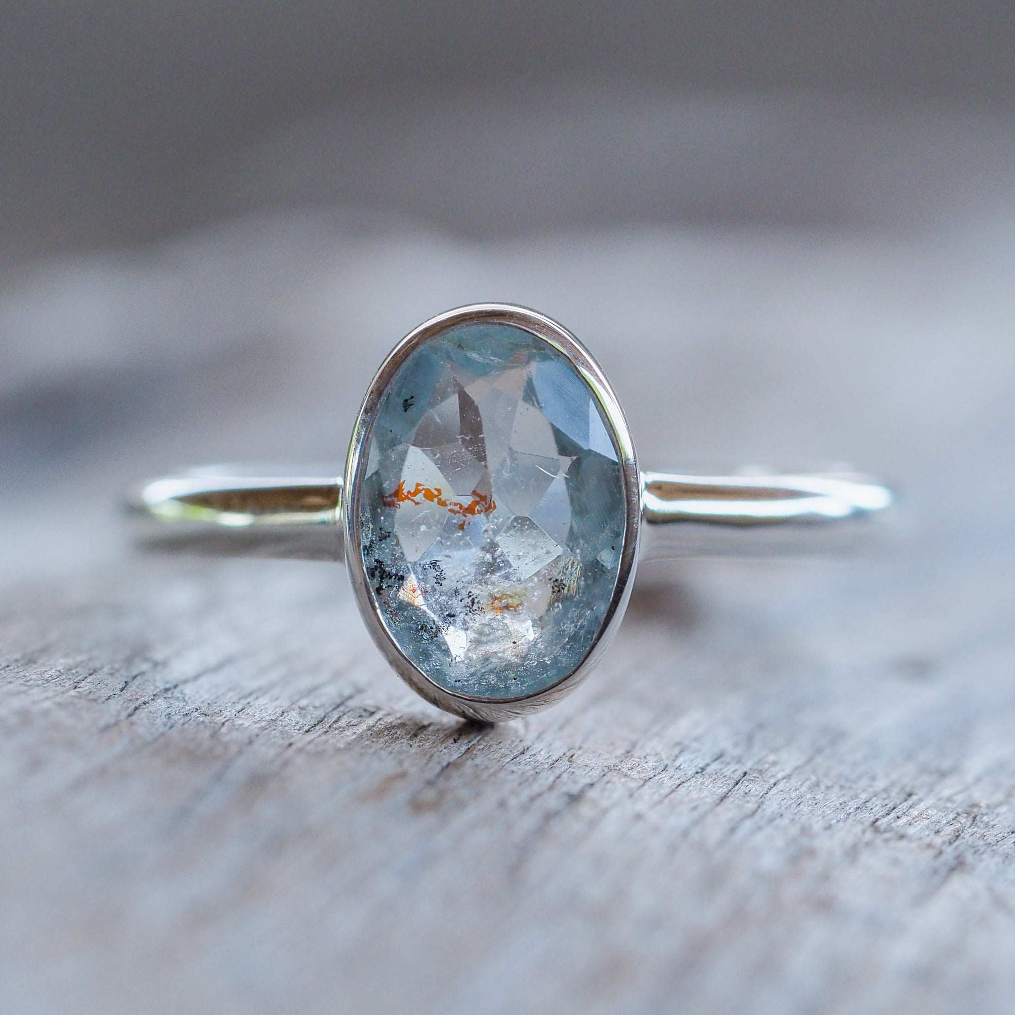 Included Aquamarine Ring