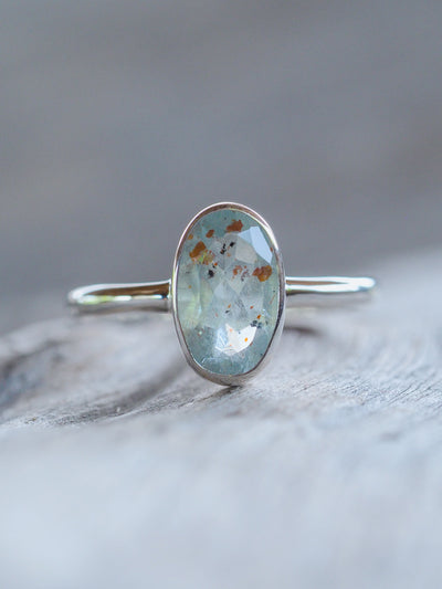 Included Aquamarine Ring - Gardens of the Sun Jewelry