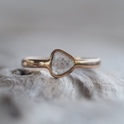 Diamond Slice Ring in Rose Gold - Gardens of the Sun Jewelry