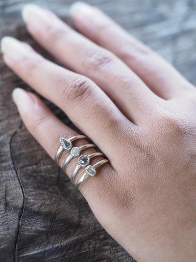 AA Ferris Small Diamond Ring in Silver | Build Your Own - Gardens of the Sun Jewelry