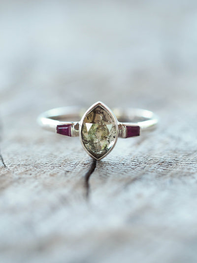 Diamond and Ruby Ring - Gardens of the Sun Jewelry
