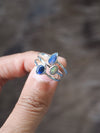 Custom Solid Opal Ring in Silver