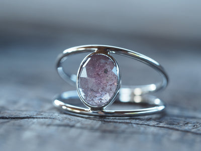 Vita Sapphire Slice Ring in Silver | Build Your Own
