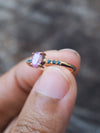 AA MERI CHECK Pink Ceylon Sapphire Ring - Gardens of the Sun Jewelry