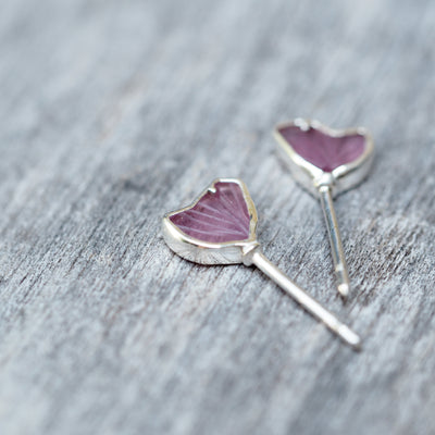 Pink Tourmaline Wing Earrings - Gardens of the Sun Jewelry