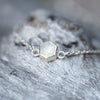 Hexagon Opal Bracelet - Gardens of the Sun Jewelry
