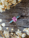 Pink Spinel Ring in White Gold