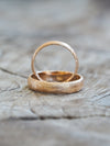 AA SENT FOR PHOTOSHOOT MERI DESCRIPTION Wabi Sabi Organic Wedding Band in Rose Gold - Gardens of the Sun Jewelry