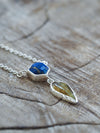 AA at Apri for repair Lapis Lazuli and Tourmaline Leaf Necklace - Gardens of the Sun Jewelry