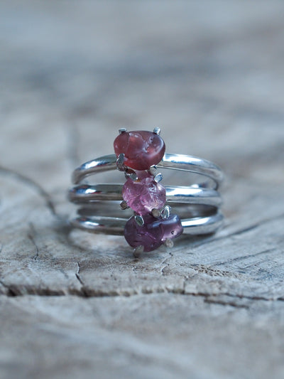 Rough Spinel Ring