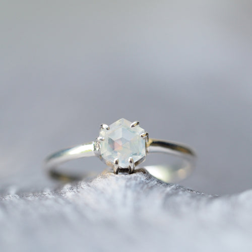 Hexagon Opal Ring