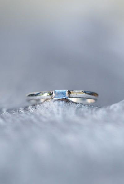 Sapphire Stacking Ring - Gardens of the Sun Jewelry
