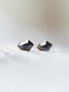 Black Shield Diamond Earrings in Rose Gold - Gardens of the Sun Jewelry