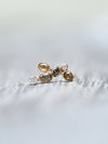 Mismatched Fall Diamond Earrings in Rose Gold - Gardens of the Sun Jewelry
