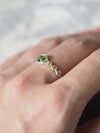 Hexagon Peridot and Yellow Sapphire Ring - Gardens of the Sun Jewelry