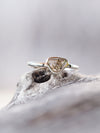 Dark Chocolate Diamond Slice Ring - Gardens of the Sun Jewelry