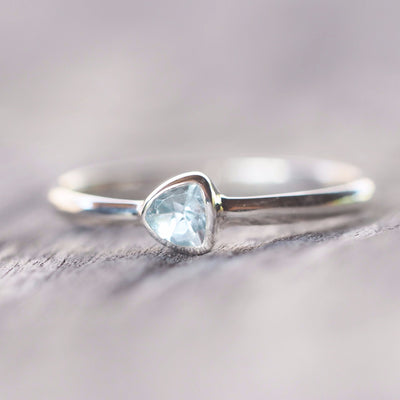 Blue Topaz Ring - Gardens of the Sun Jewelry