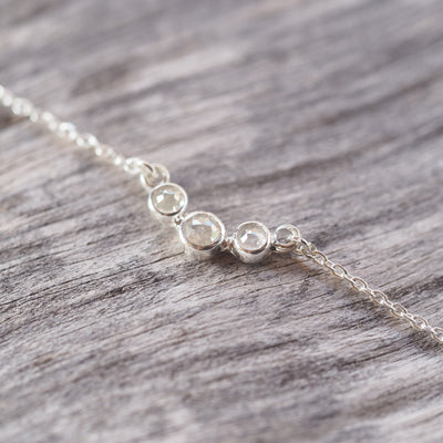 Salt and Pepper Diamond Necklace - Gardens of the Sun Jewelry