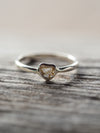 Small Diamond Heart Slice Ring - Gardens of the Sun Jewelry