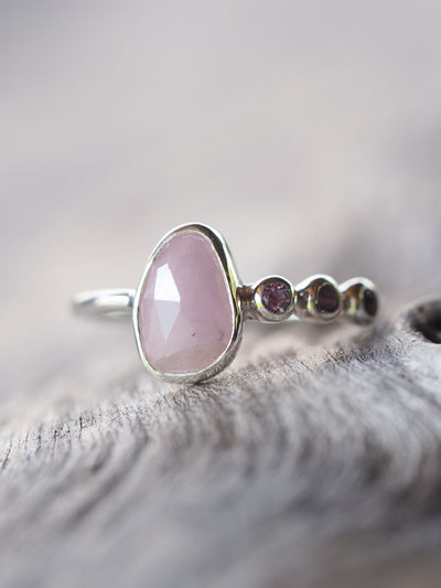 Rose Cut Sapphire and Amethyst Ring - Gardens of the Sun Jewelry
