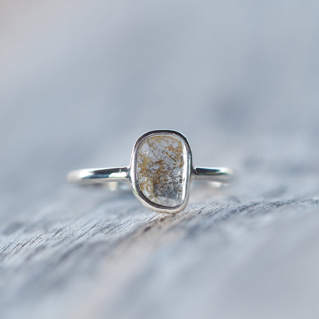 Desire // Large Diamond Slice Ring