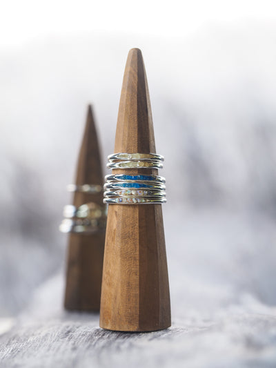 Teak Ring Cone - Gardens of the Sun Jewelry