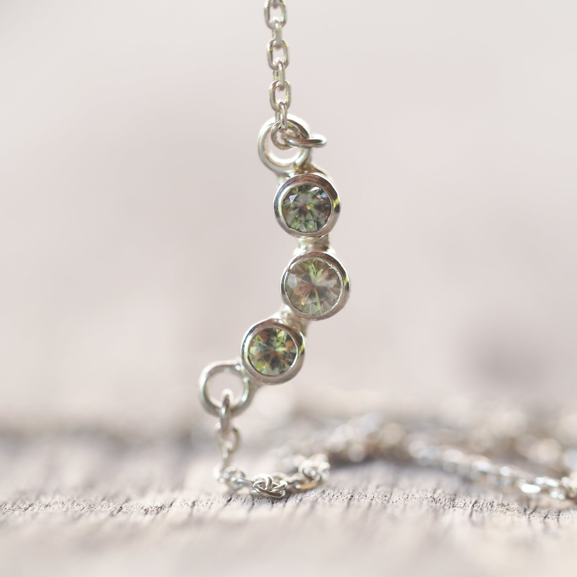 Peridot and Moonstone Necklace - Gardens of the Sun Jewelry