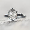 Unspoken II / Tourmalinated Quartz and Black Spinel Ring - Gardens of the Sun Jewelry