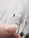 Moonstone Hexagon Hoop Earrings - Gardens of the Sun Jewelry