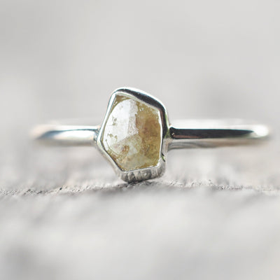 Opaque Diamond Slice Ring - Gardens of the Sun Jewelry