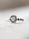 Quartz and Black Spinel Ring - Gardens of the Sun Jewelry