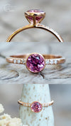 Pink Ceylon Spinel Ring in Eco Gold
