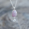 Rose Cut Sapphire and Rainbow Moonstone Necklace