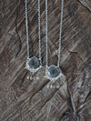 Pear Salt and Pepper Diamond Necklace