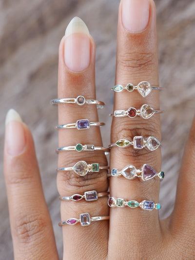 Triple Birthstone Ring | Build Your Own